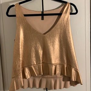 Zara rose gold peplum top